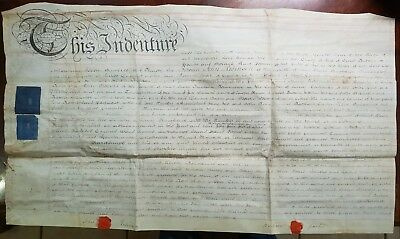 1796 Vellum Indenture Robinson to Carter for House in Rotherhithe