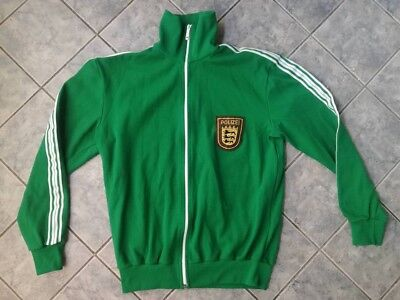 Vintage Tracksuit Green Top Grasshoppers Polizei made in West Germany