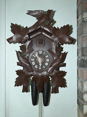 Vintage German Black Forest Cuckoo Coo Coo Clock Exc. Cond.  Runs Great!
