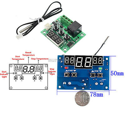 -9-110°C DC 12V Red LED W1209/W1401 Digital Thermostat Temperature Controller