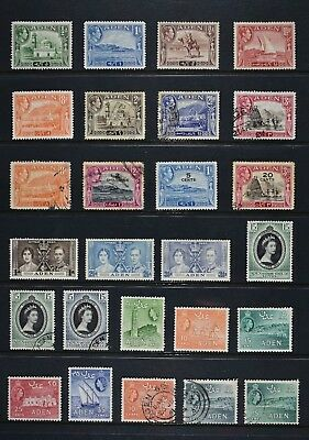 Aden, a collection of 54 stamps, a combination of mounted mint and used.