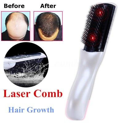 Wireless Infrared Laser Treatment Power Grow Comb Stop Hair Loss Head Massage