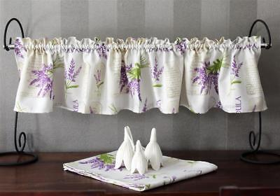 Set Curtain with Table Runner Cottage Lavender Pattern 25 High 135 Wide