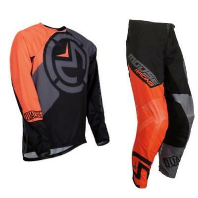 MOOSE RACING Qualifier Motocross Jersey Hose schwarz orange MX Enduro Pant Shirt