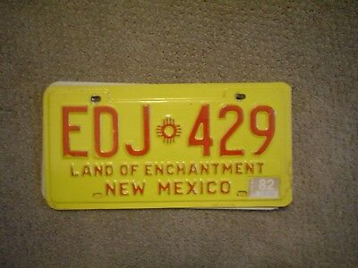 New Mexico Lnd Of Enchantment      License Plate    Buy All States Here