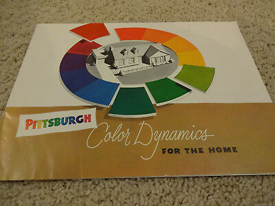 Great Vintage 1950s Mid-Century Pittsburgh Paints Decorating Brochure Neat One!