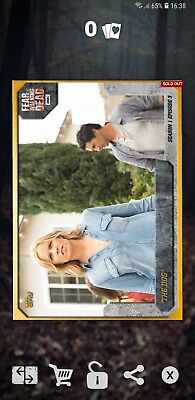 Topps the walking dead card trader 2cc madison and travis gold episode award