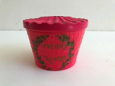 Vintage Christmas CELLULOID/VISCOLOID CANDY CONTAINER - EARLY 1900'S - RARE!