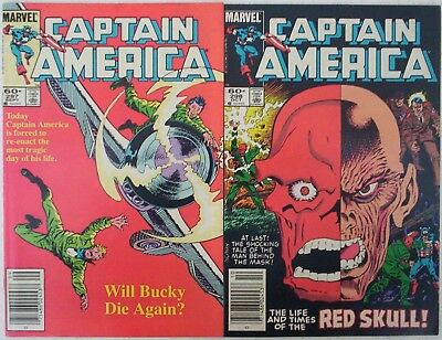 "1984. TWO x ""CAPTAIN AMERICA"" Marvel comics Vol.1. #'s 297 & 298. Fine."