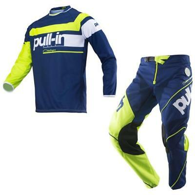PULL-IN Challenger Race Motocross Jersey Hose 2019 navy lime Offroad Enduro MX