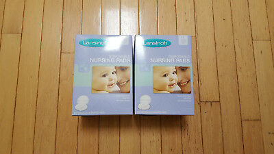Lansinoh Nursing Pads, Two Packs of 60 Stay Dry Disposable Breast Pads New