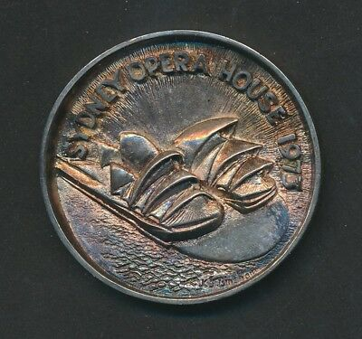 Australia: 1973 Opera House Official Opening Large Silver Medal, 55mm 42g, RARE
