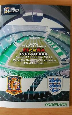 SPAIN v ENGLAND -  NATIONS LEAGUE  15/10/2018  PROGRAMME