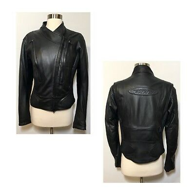 Harley Davidson FXRG Water Resistant Armored Leather Riding Jacket Women's 8-10