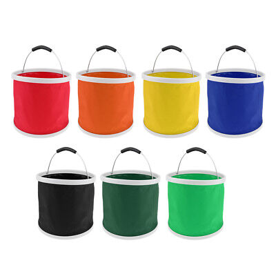 Foldable Collapsible Water Container Bottle Bucket for Hiking Camping 9L 11L
