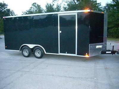 8.5x16 8.5 x 16 Enclosed Trailer Cargo Car Hauler V 7 Motorcycle Utility A+ BBB