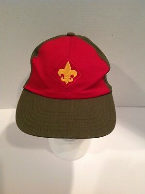 BSA Boy Scouts of America Baseball Hat Cap Size S/M made in USA