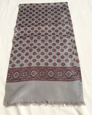 Men's Stunning VINTAGE SILK SCARF ITALY Paisley Retro Gents Scarf