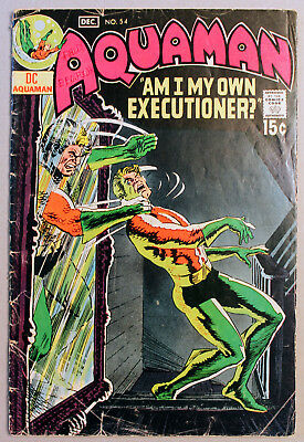 DC Aquaman #54 (1970/15¢) - Great reader copy - Thanatos - Classic issue