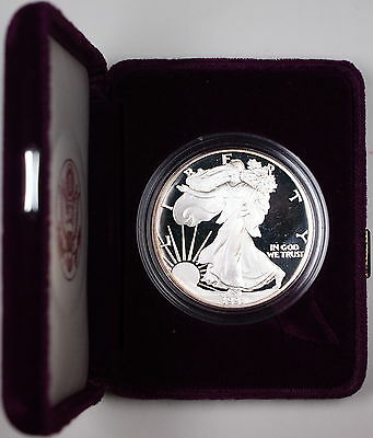 1991-S American Proof Silver Eagle $1 Coin 1oz .999 Silver with COA and OGP