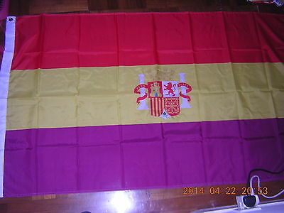 Reproduced Flag of the Second Spanish Republic 1931-1939 Spain Ensign 3ftX5ft