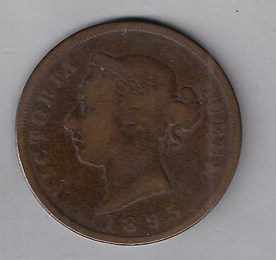 CYPRUS 1895 QUEEN VICTORIA ONE PIASTRE F+ COIN and NICE COIN