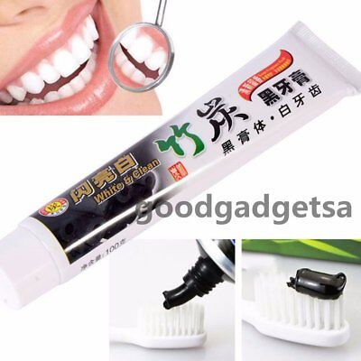 New 100g Bamboo Charcoal All-Purpose Teeth Whitening Clean Black Toothpaste XM