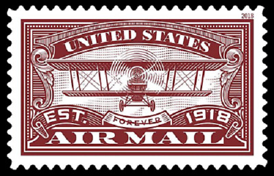 2018 50c United States Air Mail, Red, Forever Scott 5282 Mint F/VF NH