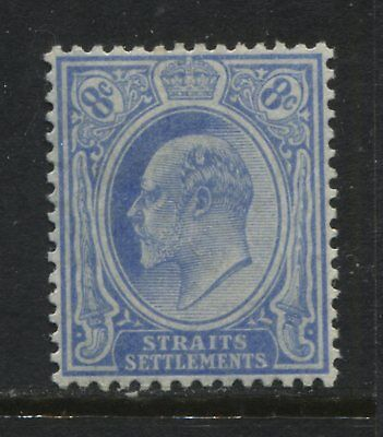Straits Settlements KEVII 1904 8 cents on chalky paper mint o.g.
