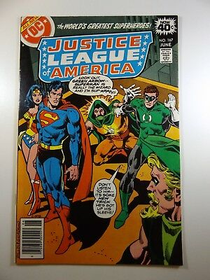 """Justice League of America #167 """"The League That Defeated Itself"""" Beautiful VF-NM"""