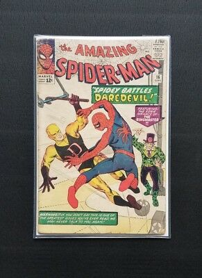 Amazing Spider-Man #16 (1964, Marvel) 1st Daredevil Crossover Silver Age Key
