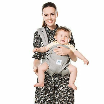 Kinmbra New Design Baby Carrier with Hip seat for infant & Toddlers (Gray)
