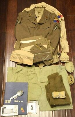 Wwii 13Th Armored Division Uniform Grouping - Extensive + Named