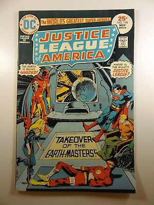 """Justice League of America #118 """"Takeover of The Earth Masters!"""" Sharp VF!!"""