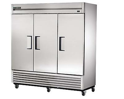 """True T-72F-HC 78"""" Three Section Reach-In Freezer, (3) Solid Doors, 115v"""