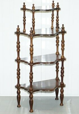 Lovely Small Mahogany Whatnot Bookcase Nicely Turned Pillars Functional Piece