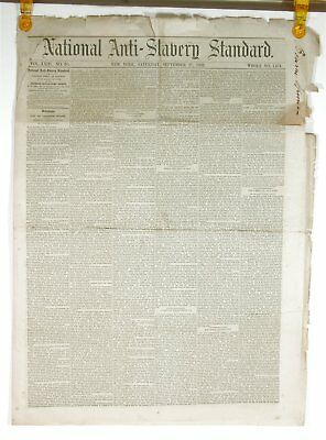 1862 Early Printing Of The Emancipation Proclamation In Anti-Slavery Newspaper