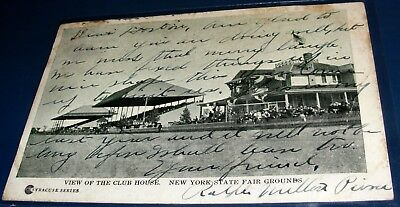 Lot-5 antique/vintage assorted NEW YORK STATE postcards. 1 stamp. 1906-early 50s