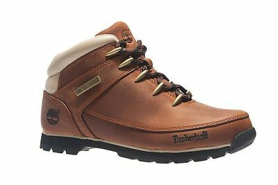 Timberland Mens Leather Euro Sprint Hiker Casual Boots Brown (A121K)