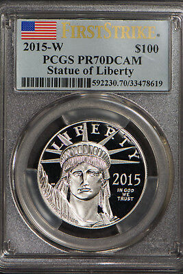 2015-W $100 PLATINUM 1 oz AMERICAN EAGLE - PROOF ** PCGS PR 70 DCAM FIRST STRIKE