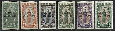 Oubangui Chari Chad 1915 various definitives to 50 centimes mint o.g.