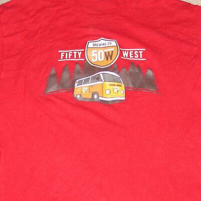 50 West Brewing Company Cincinnati Ohio Large Tee Shirt