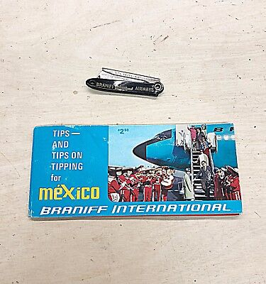 Vintage Braniff Collectibles Tip Booklet Mexico Pesos Straight Razor Consecutive