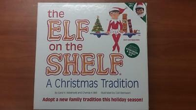the Elf on the Shelf a Christmas Tradition Set Hardback Book & Elf Doll GIRL NEW