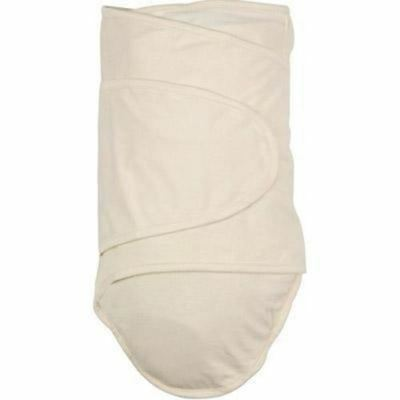 Newborn Baby Wrap.  Cotton Swaddle.  Miracle Blanket - Beige