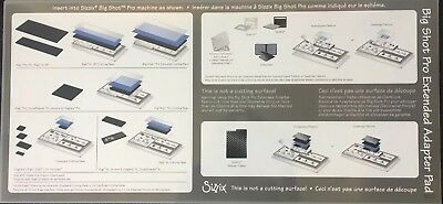 Sizzix big shot pro extended adapter pad-new but out of packaging