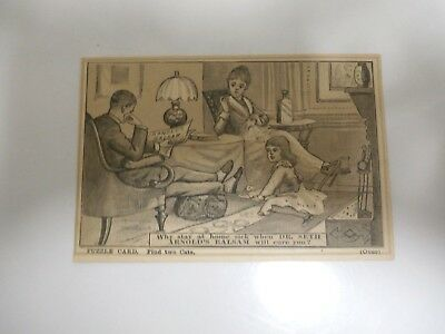Dr.seth Arnold's Balsam Medicine Puzzle Card-Find Two Cats