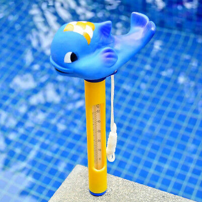 2pcs Floating Swimming Pool Water Thermometer Hot Tub Spa Temperature Whale
