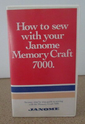 How to Sew with your Janome Memory Craft 7000 Step by Step Guide Video Tape