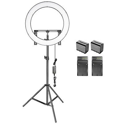 Neewer Photo Studio 19-inch Dimmable Bi-color LED Ring Light Lighting Kit